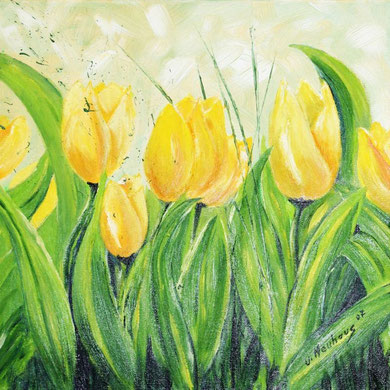 Tulpen, 40 x 40 cm,