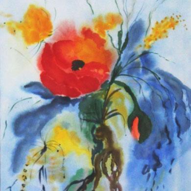 Buntes Blütenbild,