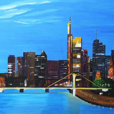 Frankfurt, 80 x 120 cm, Öl auf Leinwand