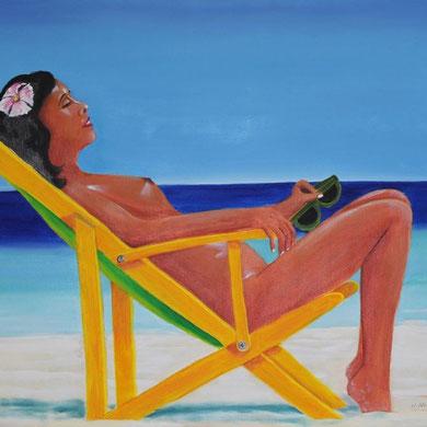 Karibische Träume, 60 x 80 cm, Öl auf Leinwand,