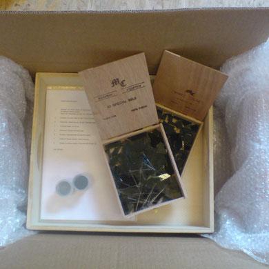 Hier meine allererste Verpackung für die erste mit der Post verschickte WünscheSchale- man beachte die Länge der Anleitung....!!