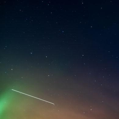 ISS - über meiner Terrasse