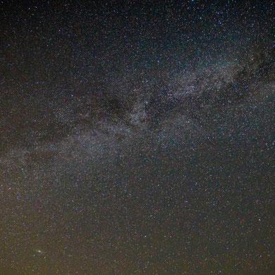 Milchstraße mit Andromeda Galaxie (links unten) - Lüneburger Heide, Undeloh