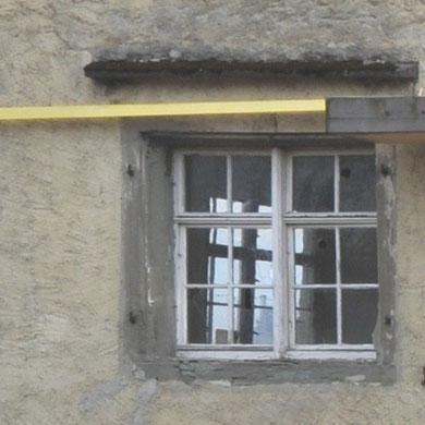 Fenster im 1. OG, Zustand im April 2013