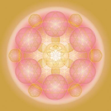 """Lebendiges Mandala, CL """"Lebendige Liebe No.2"""" © Susanne Barth (hier mit Kopierschutz)"""