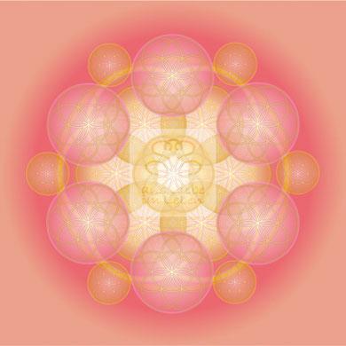 """Lebendiges Mandala, CL """"Lebendige Liebe No.3"""" © Susanne Barth (hier mit Kopierschutz)"""