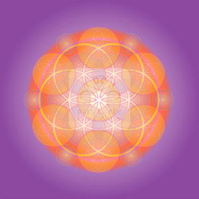 """Lebendiges Mandala, CL """"Annehmen"""" © Susanne Barth (hier mit Kopierschutz)"""