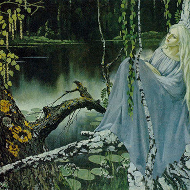 Rusalka (Русалка) from 1968 by Russian artist Konstantin Vasiliev (Константин Васильев)