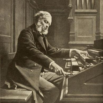 César Franck al órgano. Basílica de Santa Clotilde, Paris, 1885.