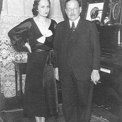 Imre Kálmán con su esposa Vera Makinskava (1932).