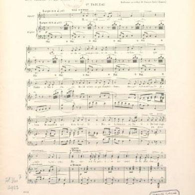 Nazareth. Paroles de M. le chanoine F. Le Dorz, musique de Théodore Decker,...  Description matérielle : In-fol., 21 p. Édition : Paris : impr. de E. Dupré , [1910]