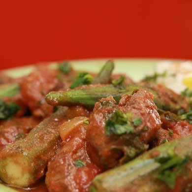 Beef Okra with Cilantro