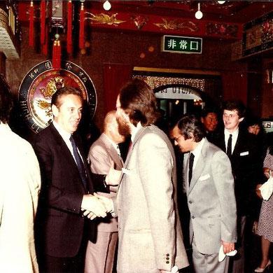 Beppe ricevuto dal console italiano e da Matsushita in Giappone anni 80