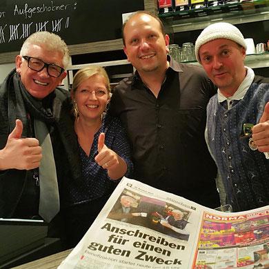 v.L. Max Winter, Nena Kovac, Robert Kovac, Jens Krumpholz