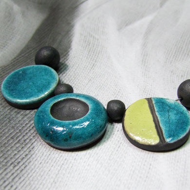 bijou raku collier contemporain