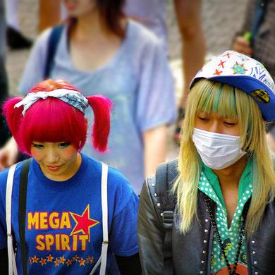 Adorable couple. Harajuku Street Fashion, Tokyo. Japan 2013 © Sabrina Iovino | JustOneWayTicket.com
