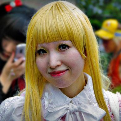 Miss Yellow Hair - Harajuku Street Fashion, Tokyo. Japan 2013 © Sabrina Iovino | JustOneWayTicket.com