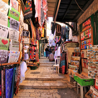 Street markets and shops in the Old City in Jerusalem, Israel © Sabrina Iovino | JustOneWayTicket.com