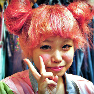 Super cute girl in a fashion store in Harajuku, Tokyo, Japan 2013 © Sabrina Iovino