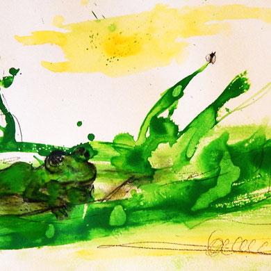 Frosch Bild grün Dieter Thomas Kuhn & Band als Inspiration