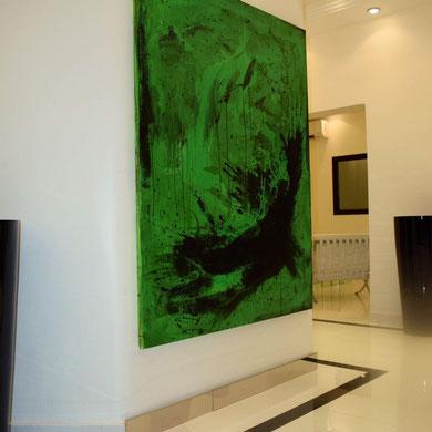 großes Bild in grün