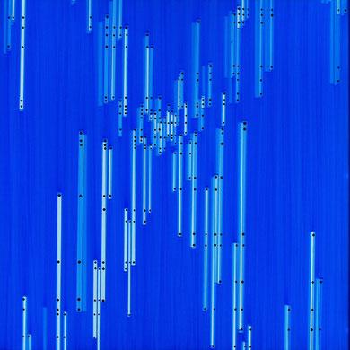 """Daekwan Kim """"DAS LICHT AUF DEM WASSER"""" - tOG Nr. 004 - 75x75 cm(c) Dirk Palder tOG Düsseldorf"""
