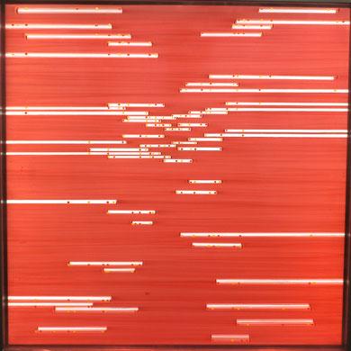 """Daekwan Kim """"DAS LICHT AUF DEM WASSER"""" - tOG Nr. 002 - 75x75 cm(c) Dirk Palder tOG Düsseldorf"""