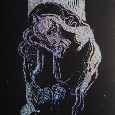 14#21 cm Kratztusche