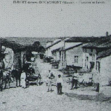 Fleury vor dem Krieg -  Foto von der Gedenktafel