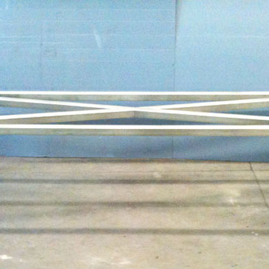 chassis de table acier