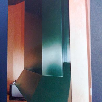 hotte métallique de cheminée adossée