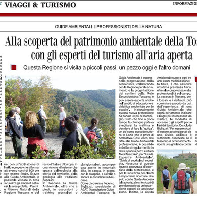 Bruno nella Riserva - Articolo Corriere delle Sera del 27 07 2012