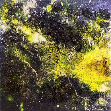 Colours of Lava I, mixed media, 2016, 20x20x2, verkauft