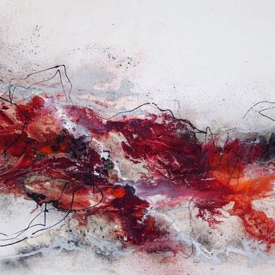 Abstrakt, Rot Weiß, unverkäuflich