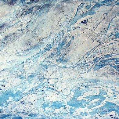 Eismeer, Acryl mixed media, 2015, 100x80x4,5