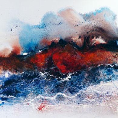 Lava, Acryl mixed media, 2014, verkauft