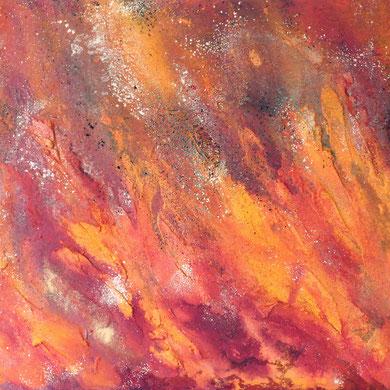 Inferno Acryl mixed media, 2015, 90x60x4,5