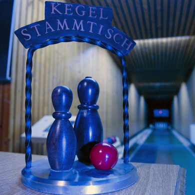 Die Kegelbahn im Gasthaus Göttlinger