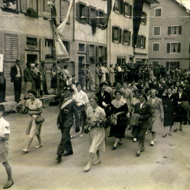 Gesangsfest Sempach 1955 - Auszeichnung Goldkranz
