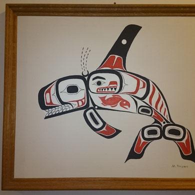 Motiv: Schwertwal, Akryl auf Leinwand