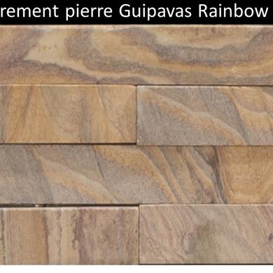 Parement pierre naturelle Guipavasbois rainbow prix