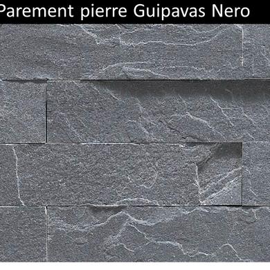 Parement pierre naturelle Guipavas nero prix pas cher