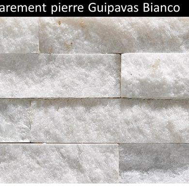 Parement pierre Guipavas blanc pas cher Quartzite