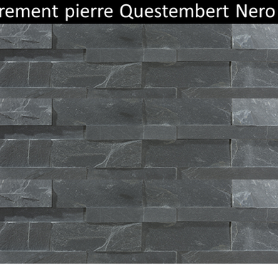 Parement pierre naturelle Questembert nero pas cher