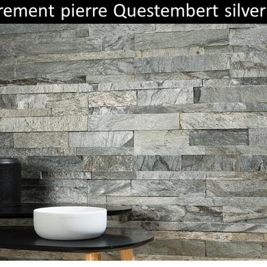 Parement pierre naturelle Questembert silver pas cher
