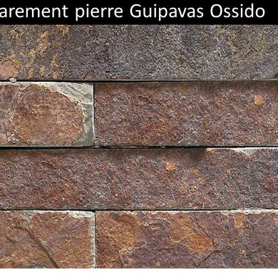Parement pierre naturelle  Guipavas brique Ossido pas cher