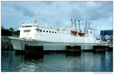 Prince de Bretagne berthed in Plymouth.