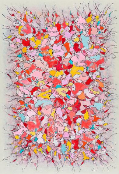 内田江美 キャンバスに油彩・木炭 162×112cm 『Trace-332』