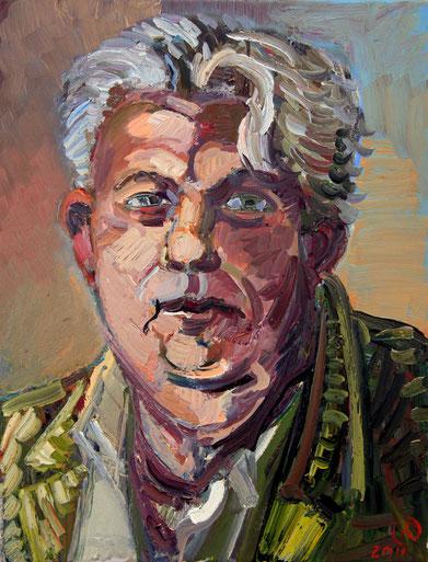 Der Maler Albert Maria Pümpel, 40cm x50cm, Öl auf Leinwand, 2011