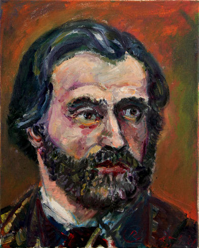 Giuseppe Verdi, 30cm x 40cm, Öl auf Leinwand, 2016
